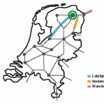 Kaartbeeld treinverbindingen