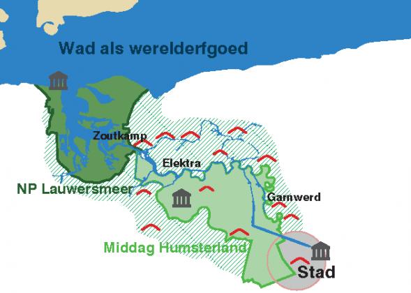 Kaartbeeld van het Reitdiepgebied