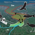 Kartbeeld van een verbinding tusen de Zee en de Aa